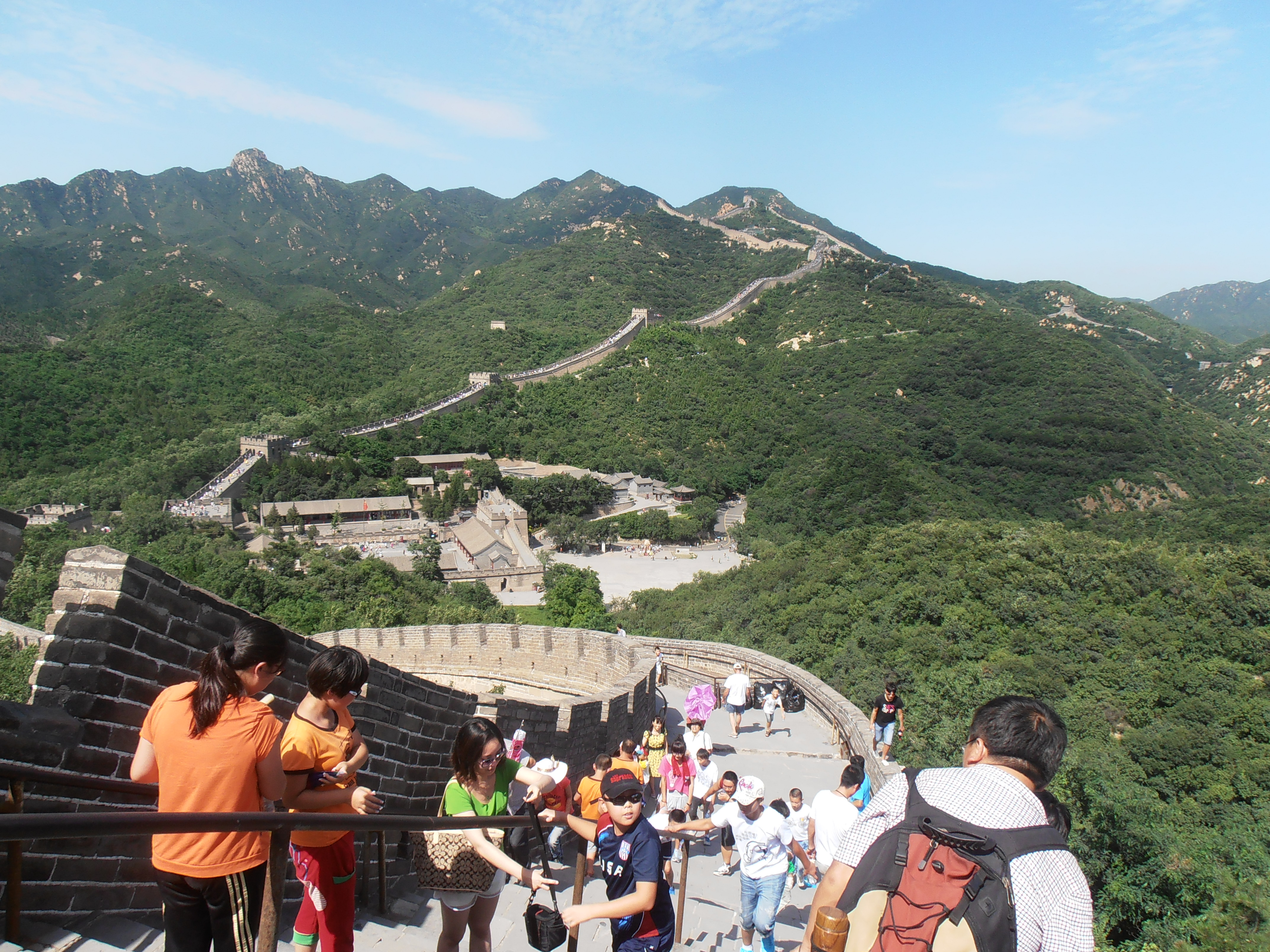 Beijing. Great wall. Badaling section