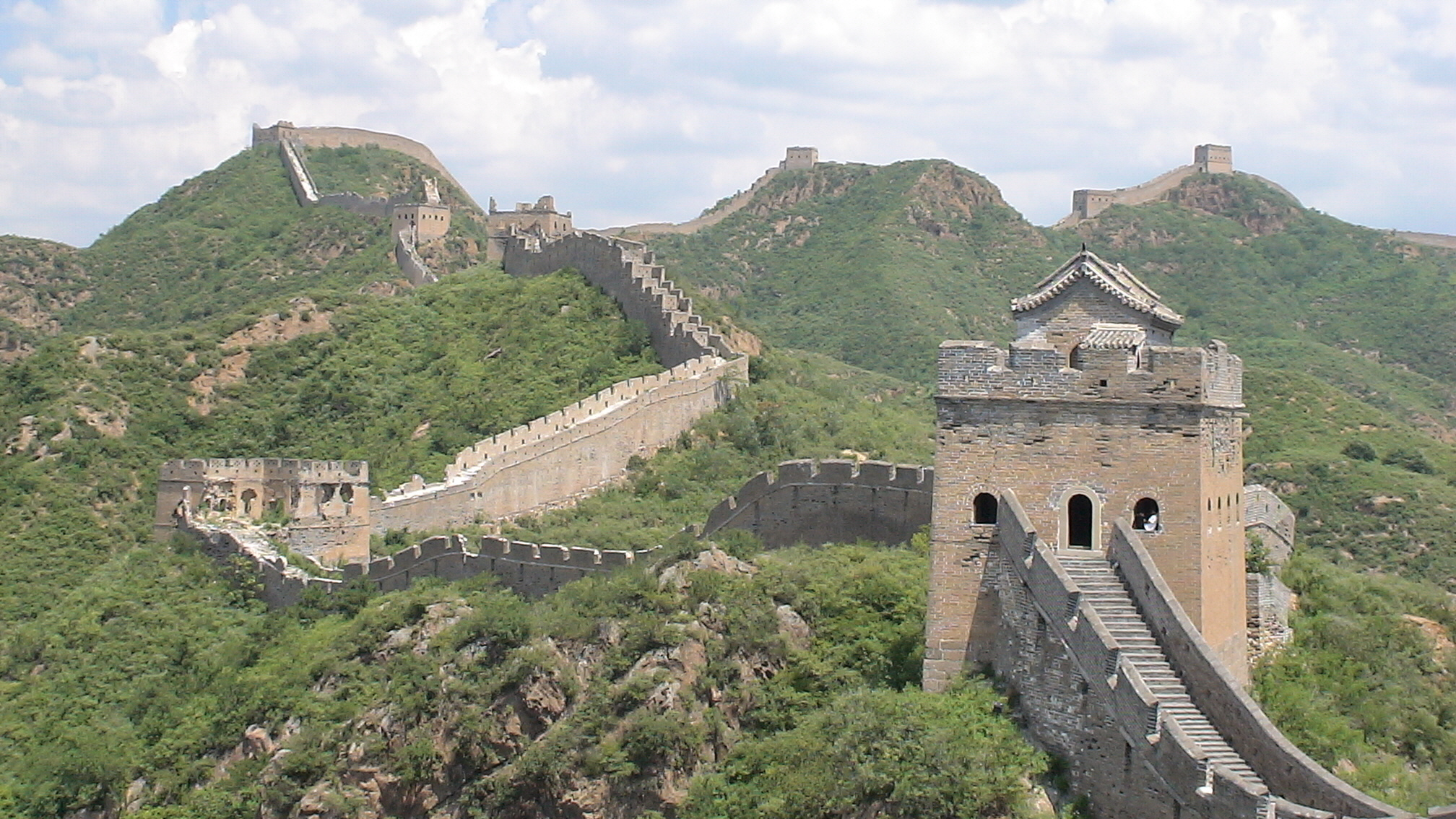 Beijing. Great wall. Jinshanling section