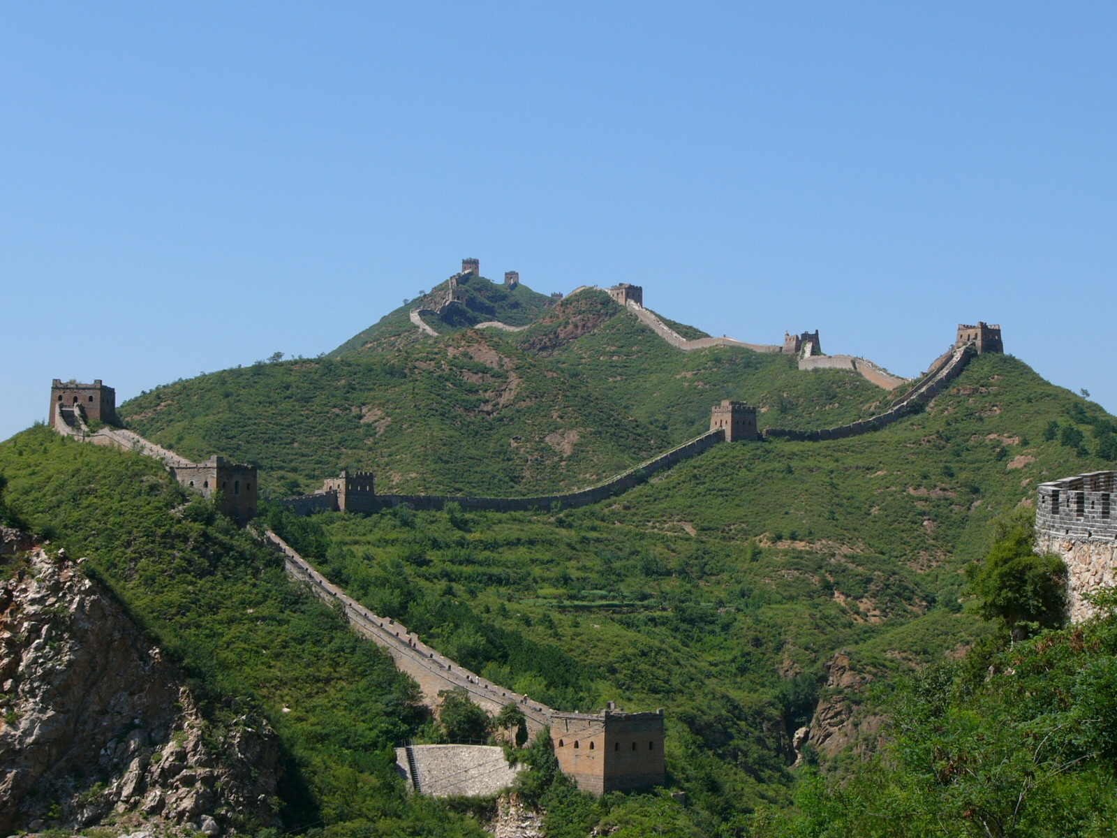 Beijing. Great wall. Simatai section