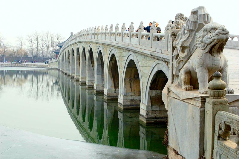 Beijing. Summer Palace. Seventeen-arch bridge